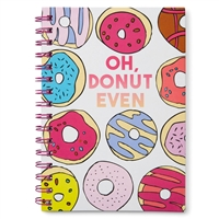 Oh Donut Even Hardcover Spiral Notebook