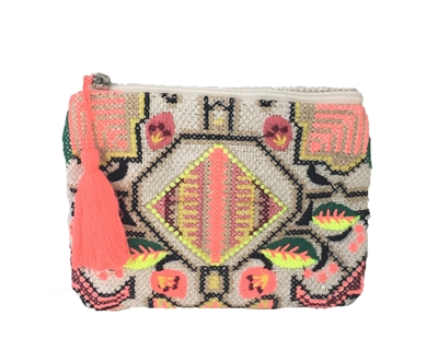 New Look Bright Embriodered Coin Purse