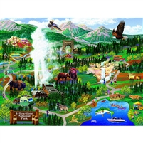 SunsOut Yellowstone National Park Adventures 500 PC Jigsaw Puzzle