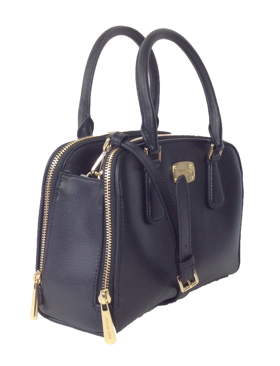 0e14be1694ac7d Michael Kors Reese Medium Leather Satchel, Black