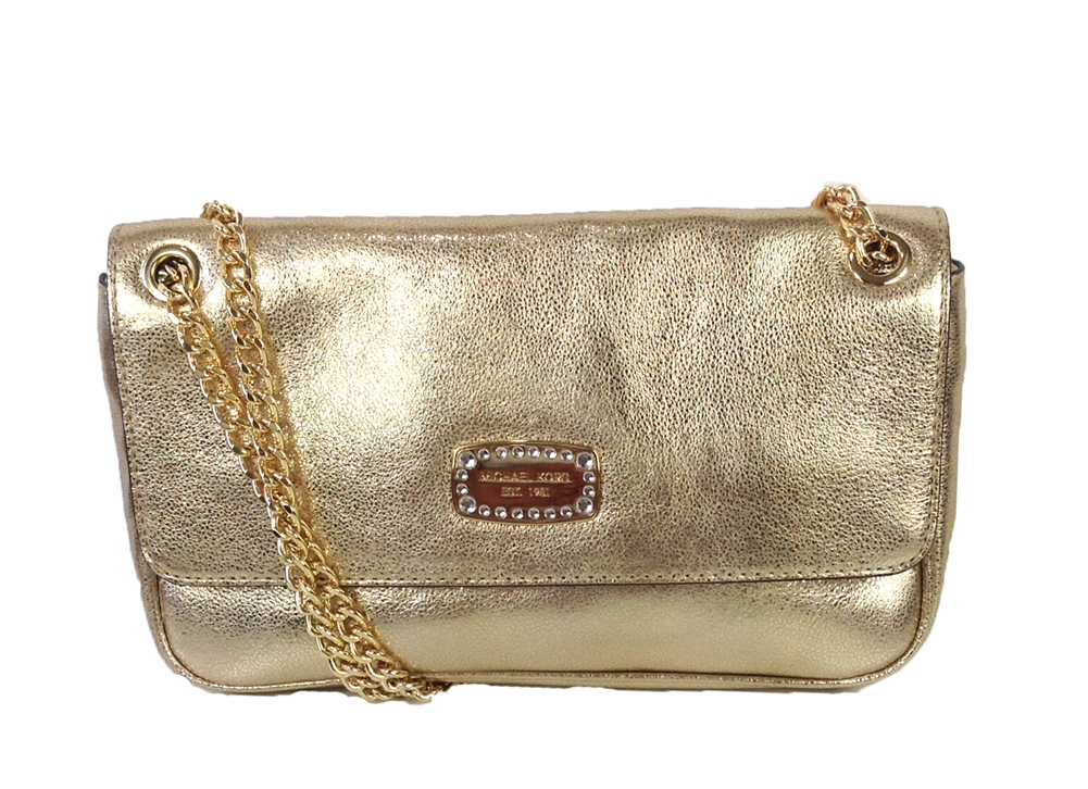 michael kors jet set jewel chain leather small shoulder flap bag rh thebagtique com