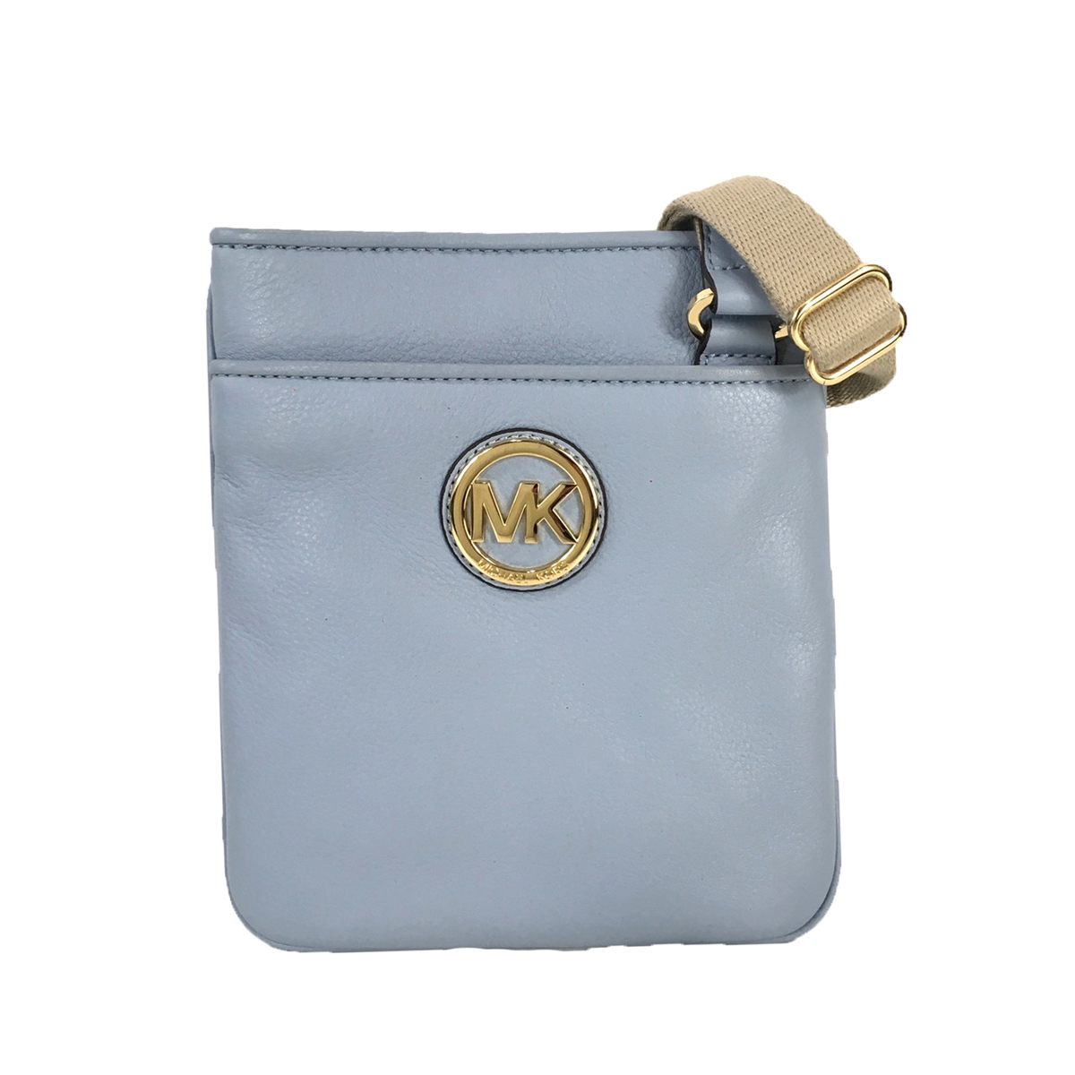 e2f0ec450335b1 Michael Kors Fulton Leather Swingpack Crossbody, Pale Blue