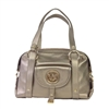 Michael Kors Fulton Large Metallic Leather Satchel