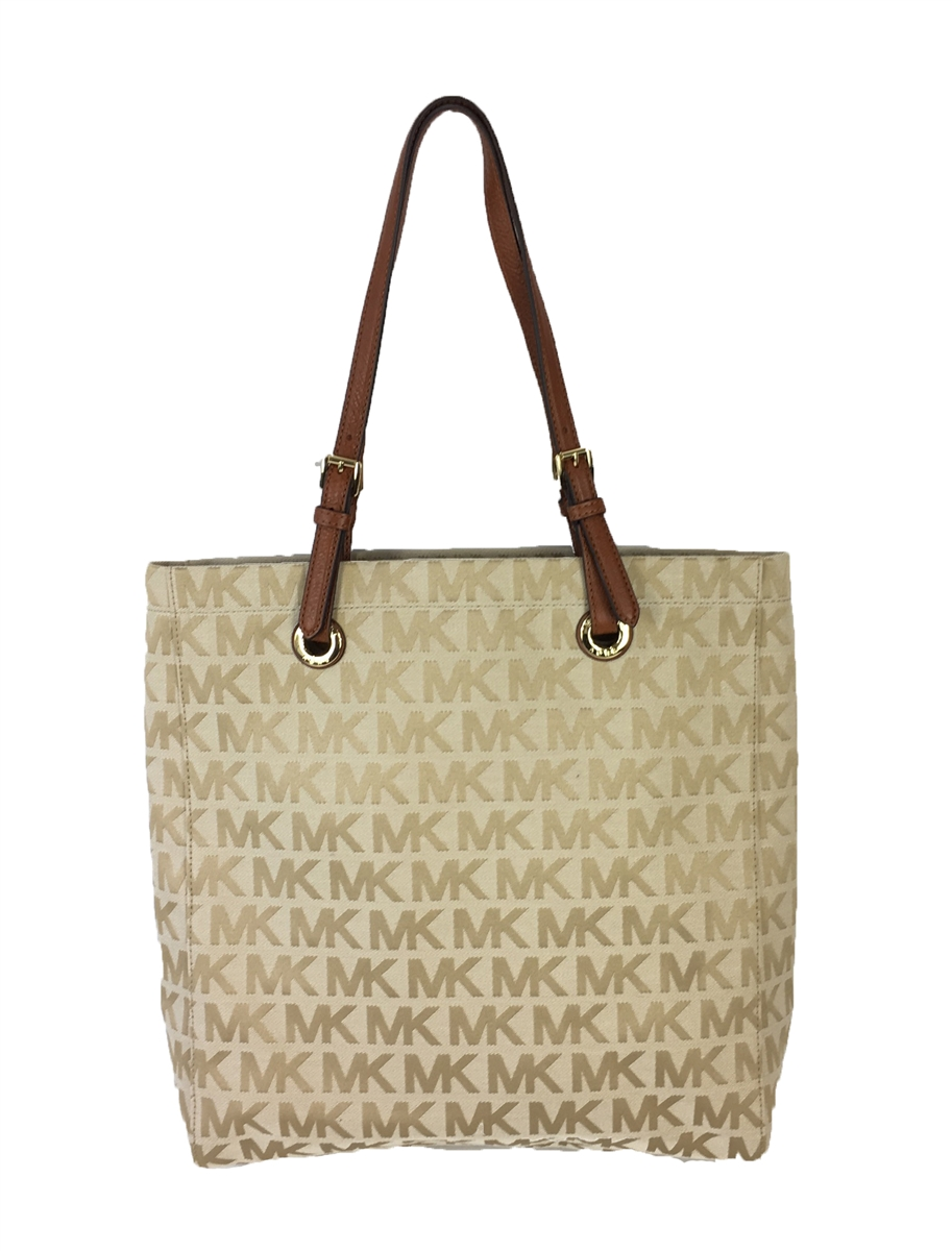 bf6ad9a4bfd65a ... norway michael kors jet set mk signature jacquard n s tote beige camel  luggage 3cec9 bd97d