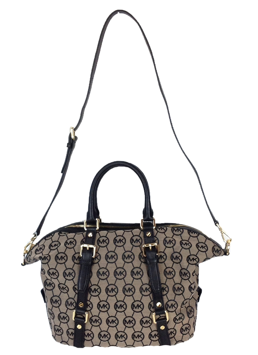ad0cd16cb2e94 Michael Kors Bedford Jacquard Medium Satchel