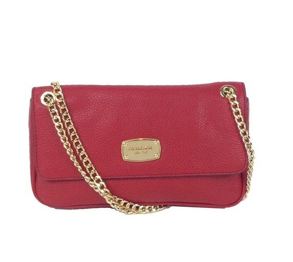 7b1156a6c5eae8 Michael Kors Jet Set Chain Leather Small Shoulder Flap Bag, Red