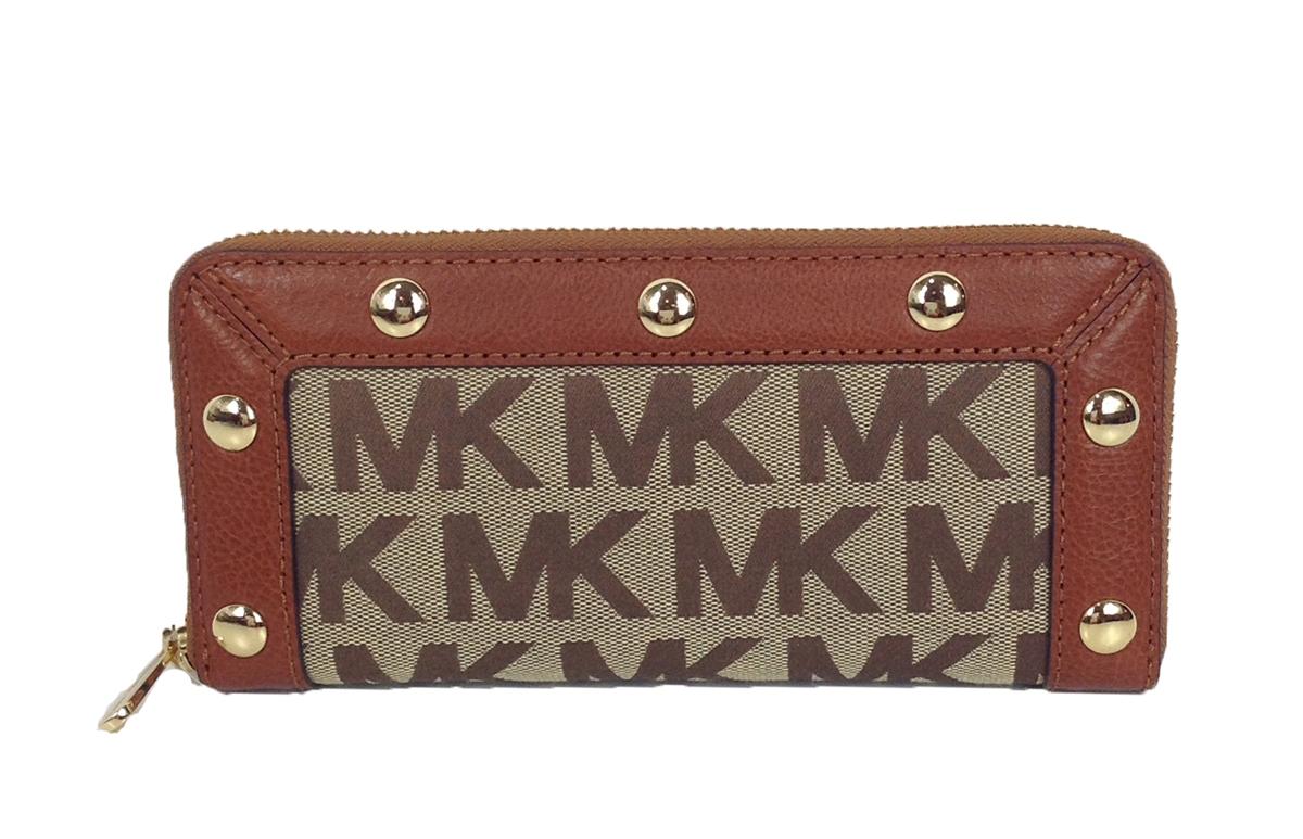 fdad6cb9bdc0 Michael Kors Delancy Zip Around Continetal Wallet