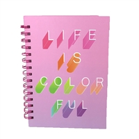 Life Is Colorful Hardcover Spiral Notebook