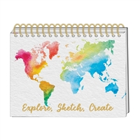 Explore, Sketch, Create Watercolor World Hardcover Sketch Pad Artist Sketchbook