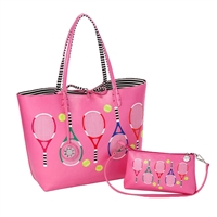 Sydney Love Tennis Reversible Tote & Wristlet Set