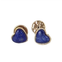 Tory Burch Heart Stud Earrings