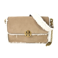 c0c403f025f5 Tory Burch Chelsea Shearling Convertible Shoulder Bag