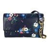 Tory Burch Parker Floral Printed Leather Chain Wallet Crossbody