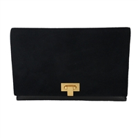 Tory Burch Logo Turnlock Leather Slim Envelope Clutch