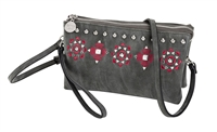 Sydney Love Embroidered Faux Suede Multi Way Crossbody