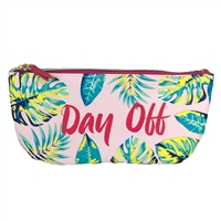 Day Off Palm Print Zip Cosmetic Sunglasses Case