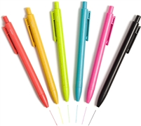 Bold & Bright Colored Hybrid Ink Eco Friendly Ballpoint Pens