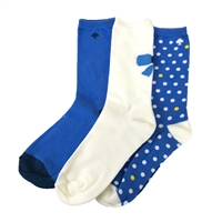 Kate Spade Dots & Bows Crew Sock 3 Pair