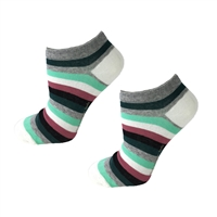 Kate Spade Multi Striped No Show Ped Socks