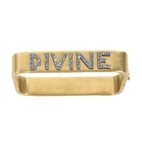 Tory Burch Divine Message Bracelet Hinged Bangle