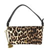 Tory Burch Cleo Leopard Calf Hair Convertible Clutch