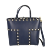 Tory Burch Block T Stud Leather Mini Tote