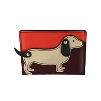 Tory Burch Dachshund Dog Slim Card Case Holder