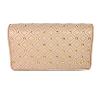 Tory Burch Flemming Stud Leather Clutch
