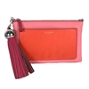 Tory Burch Color Block Leather Tassel Clutch Crossbody