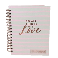 Do All Things with Love 2020 12 Month Agenda Weekly Planner Personal Organizer