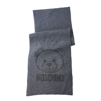 Moschino Teddy Bear Logo Wool Scarf