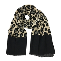 Adrienne Vittadini Animal Print Cozy Winter Oblong Scarf Shawl