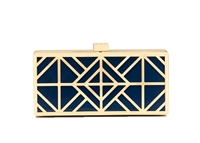 Tory Burch Fret Clutch Evening Minaudière