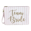Team Bride Zip Top Clutch Cosmetic Case
