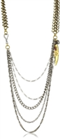 T.R.U. 1928 Jewelry Multi Chain Swag Necklace
