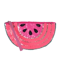 New Look Watermelon Slice Sequin Wristlet
