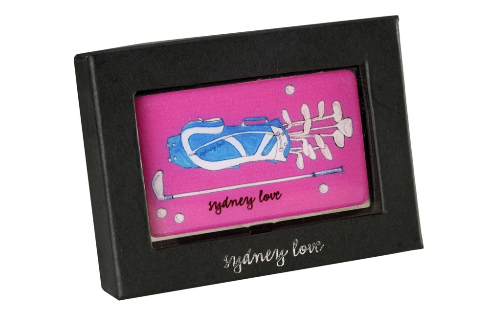 Sydney love sport golf bag business card holder card case pink reheart Choice Image