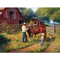 SunsOut Learning the Ropes Horse 500 Large Piece Jigsaw Puzzle