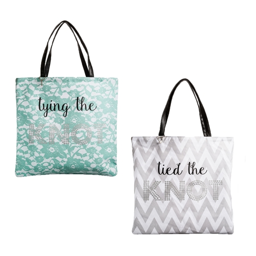 Tying / Tied The Knot Reversible Bridal Tote
