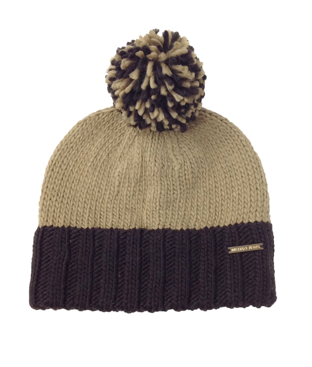 Michael Kors Women s Colorblock Pom-Pom Knit Skull Hat c29d36bc581