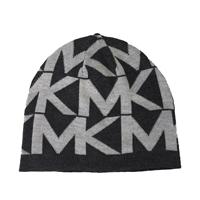 37f6017d7ba Michael Kors Oversized MK Logo Knit Beanie Hat ...