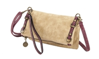 Sydney Love Grommet Faux Suede Fold Over Crossbody
