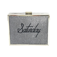 Saturday Shimmering Box Clutch Evening Bag