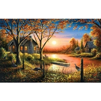 SunsOut Glorious Sunset Cabin 550 Pc Jigsaw Puzzle