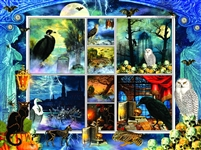 Halloween Stamps Spooky 1000 Piece Jigsaw Puzzle