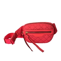 Tory Burch Perry Quilted Nylon Waist Belt Bag Crossbody Sling