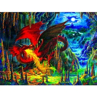 SunsOut Fire Dragon of Emerald Fantasy 500 Pc Jigsaw Puzzle