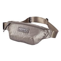 Metallic Nylon Zip Belt Bag Waist Pack