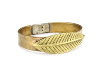 T.R.U. 1928 Jewelry Feather Bangle Cuff Bracelet