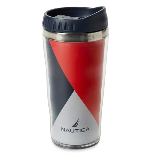 Nautica Double Walled Travel Coffee Mug